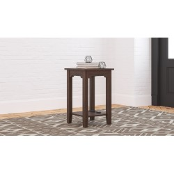 Camiburg - Warm Brown - Chair Side End Table