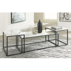 Donnesta - Gray/Black - Occasional Table Set (3/CN)