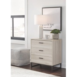 Socalle - Natural - Three Drawer Chest