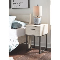 Socalle - Natural - One Drawer Night Stand