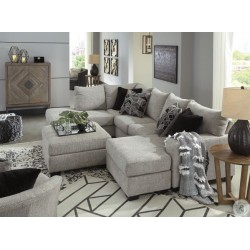 Megginson - Storm - LAF Corner Chaise, RAF Sofa Chaise Sectional, Round Swivel Chair & Ottoman With Storage