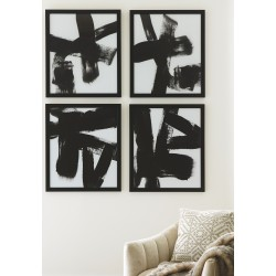 Doro - Black/White - Wall Art Set (4/CN)