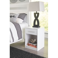 Finch - White - One Drawer Night Stand