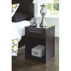 Flannia - Black - One Drawer Night Stand