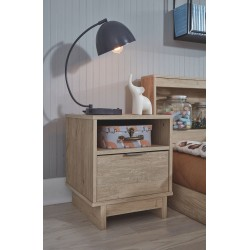 Oliah - Natural - One Drawer Night Stand