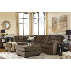 Accrington - Earth - LAF Corner Chaise, RAF Sofa Sectional & Accent Ottoman
