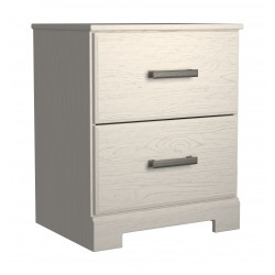 Stelsie - White - Two Drawer Night Stand