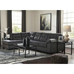 Accrington - Granite - LAF Corner Chaise, RAF Sofa Sectional & Laney Table Set