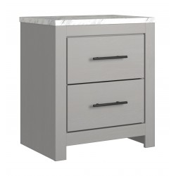 Cottonburg - Light Gray/White - Two Drawer Night Stand