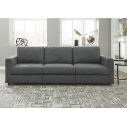 Candela - Charcoal - 3-Piece Sectional