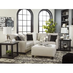 Hallenberg - Fog - LAF Sofa with Corner Wedge, RAF Loveseat Sectional & Accent Ottoman