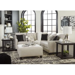 Hallenberg - Fog - LAF Loveseat, Armless Chair, RAF Sofa with Corner Wedge Sectional & Accent Ottoman