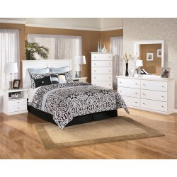 Bostwick Shoals - White - 3 Pc. - Dresser, Mirror & Queen Panel Headboard