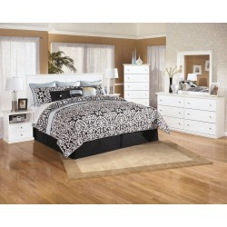 Bostwick Shoals - White - 3 Pc. - Dresser, Mirror & King Panel Headboard