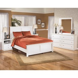 Bostwick Shoals - White - 5 Pc. - Dresser, Mirror & Queen Panel Bed