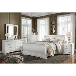 Anarasia - White - 5 Pc. - Dresser, Mirror & Queen Sleigh Bed