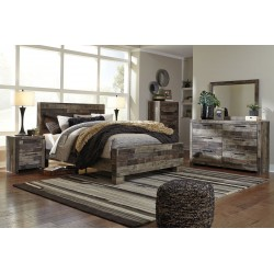 Derekson - Multi Gray - 5 Pc. - Dresser, Mirror & Queen Panel Bed