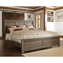 Juararo - Dark Brown - California King Panel Bed
