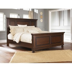 Porter - Rustic Brown - California King Panel Bed