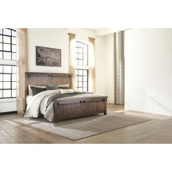 Lakeleigh - Brown - California King Panel Bed