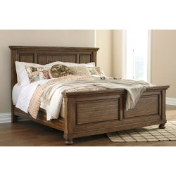 Flynnter - Medium Brown - California King Panel Bed
