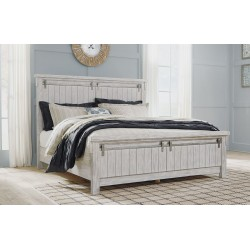 Brashland - White - California King Panel Bed
