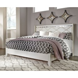 Dreamur - Champagne - King Panel Bed