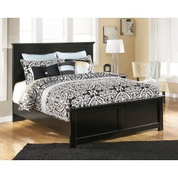 Maribel - Black - Queen Panel Bed