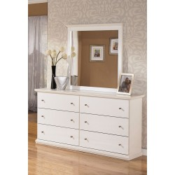 Bostwick Shoals - White - Dresser & Mirror
