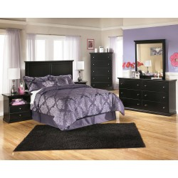 Maribel - Black - One Drawer Night Stand
