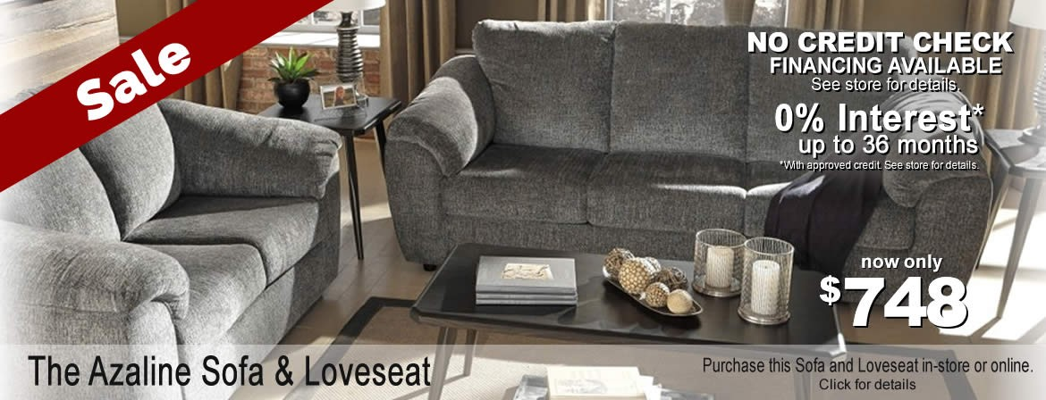 Azaline Sofa and Loveseat