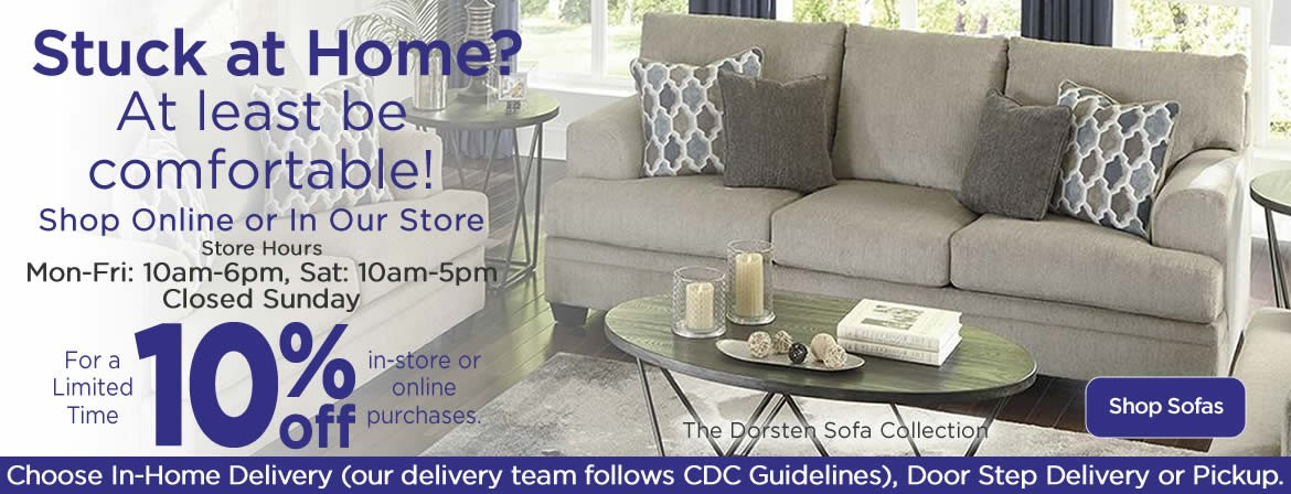 Stuck at Home? Take 10% off all Sofas