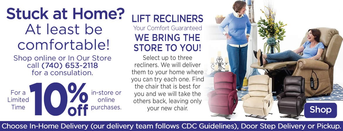 Stuck at Home? Lift Recliners on Sale.